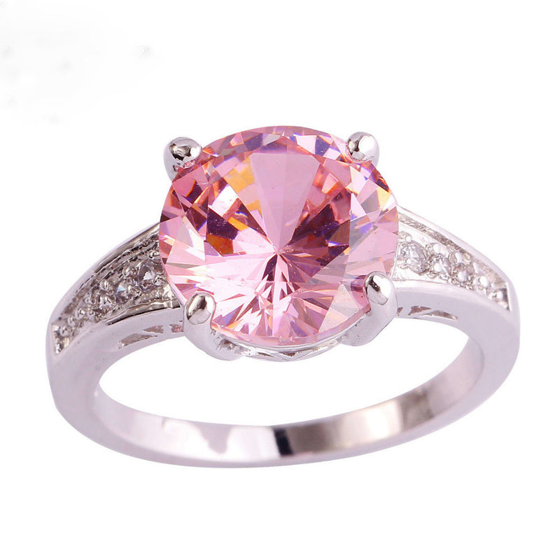 Pink Stone Engagement Ring