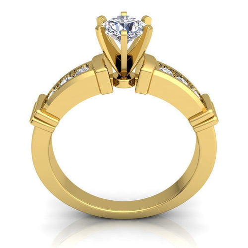 Nora Yellow Gold Engagement Ring