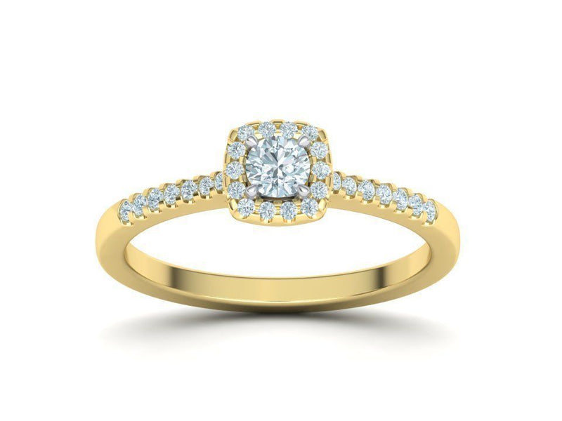 Amelia Yellow Gold Engagement Ring