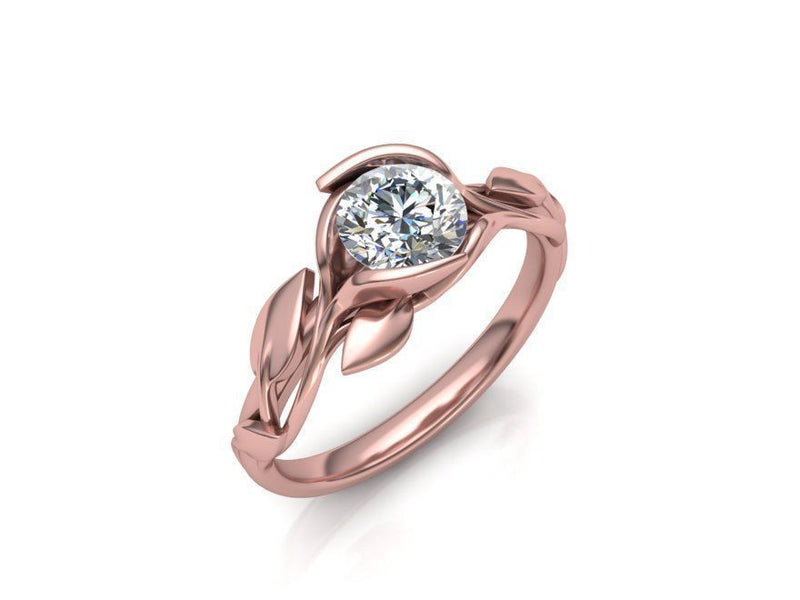 Bella Rose Gold Engagement Ring