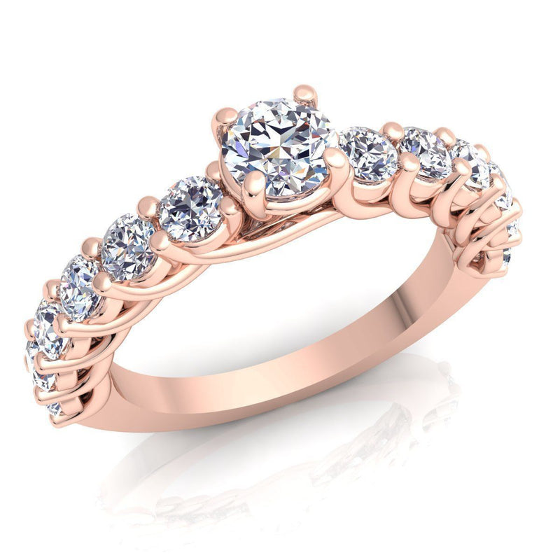 Ariana Rose Gold Engagement Ring