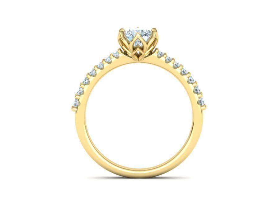 Abby Yellow Gold Engagement Ring