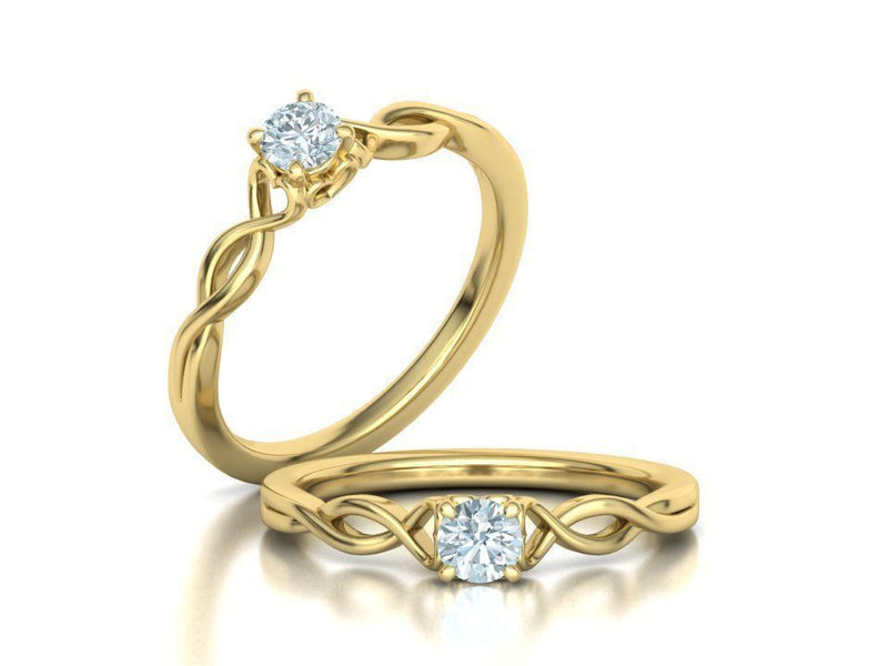 Abigail Yellow Gold Engagement Ring