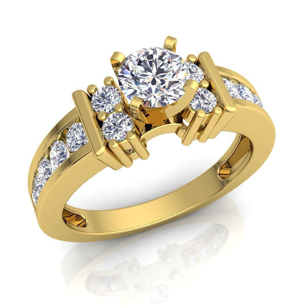 Mia Yellow Gold Engagement Ring