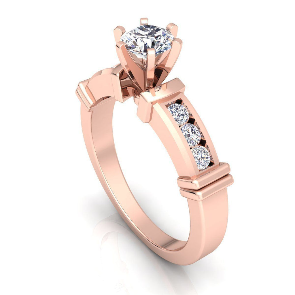 Stella Rose Gold Engagement Ring