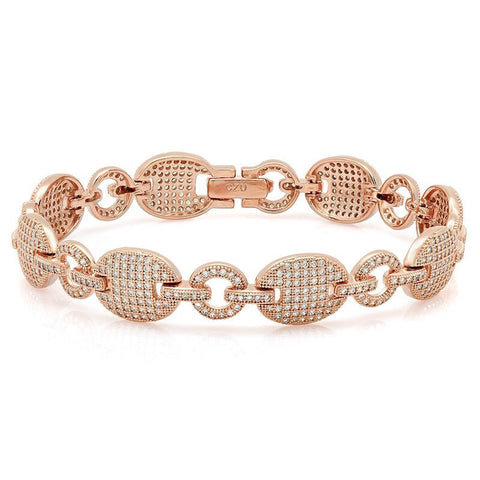 Pink Gold Color CZ Bracelet