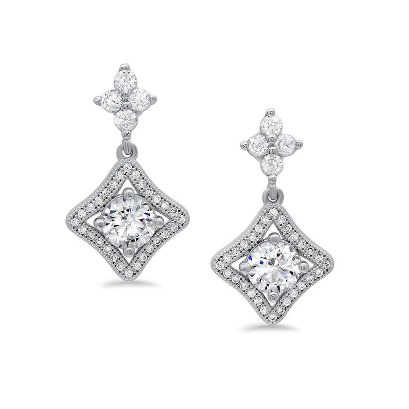 Silver Cubic Zirconia CZ Earrings