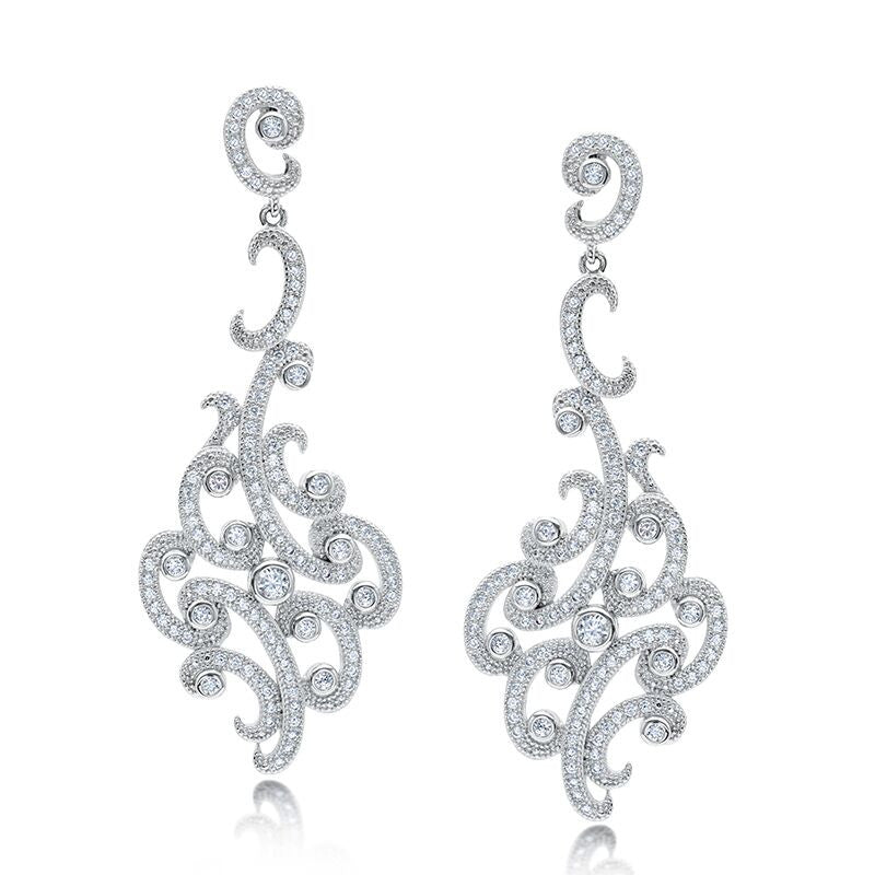 Sophisticated Scroll Dangle Earrings
