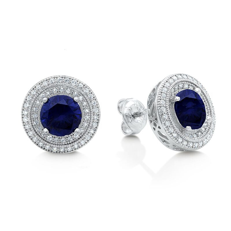 Seasons of Sapphire Earrings