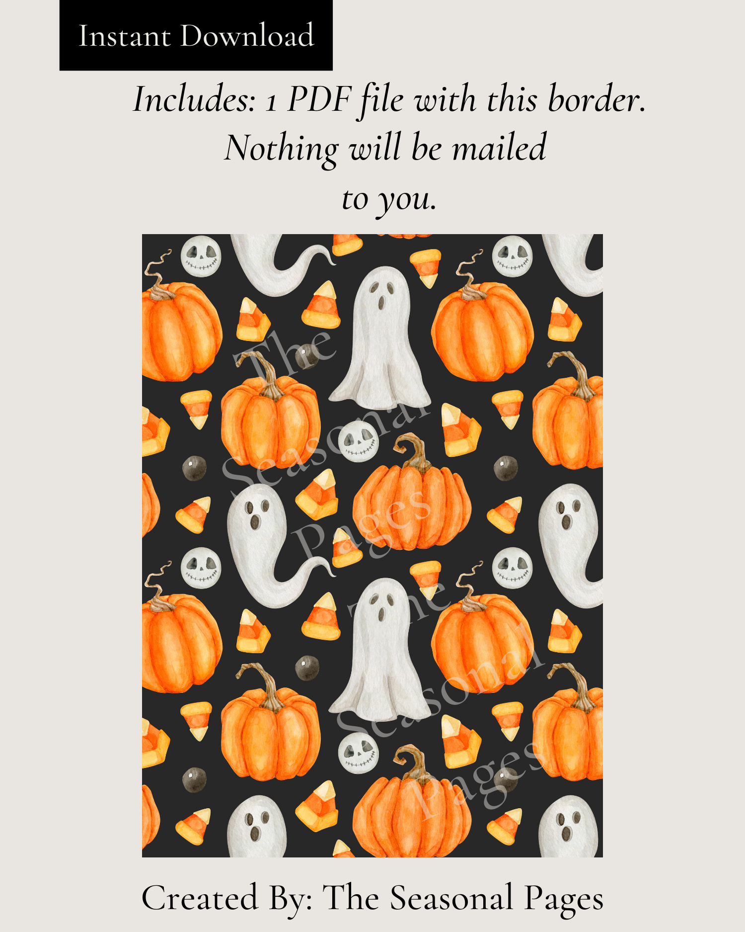 Halloween Night Stationery Printable