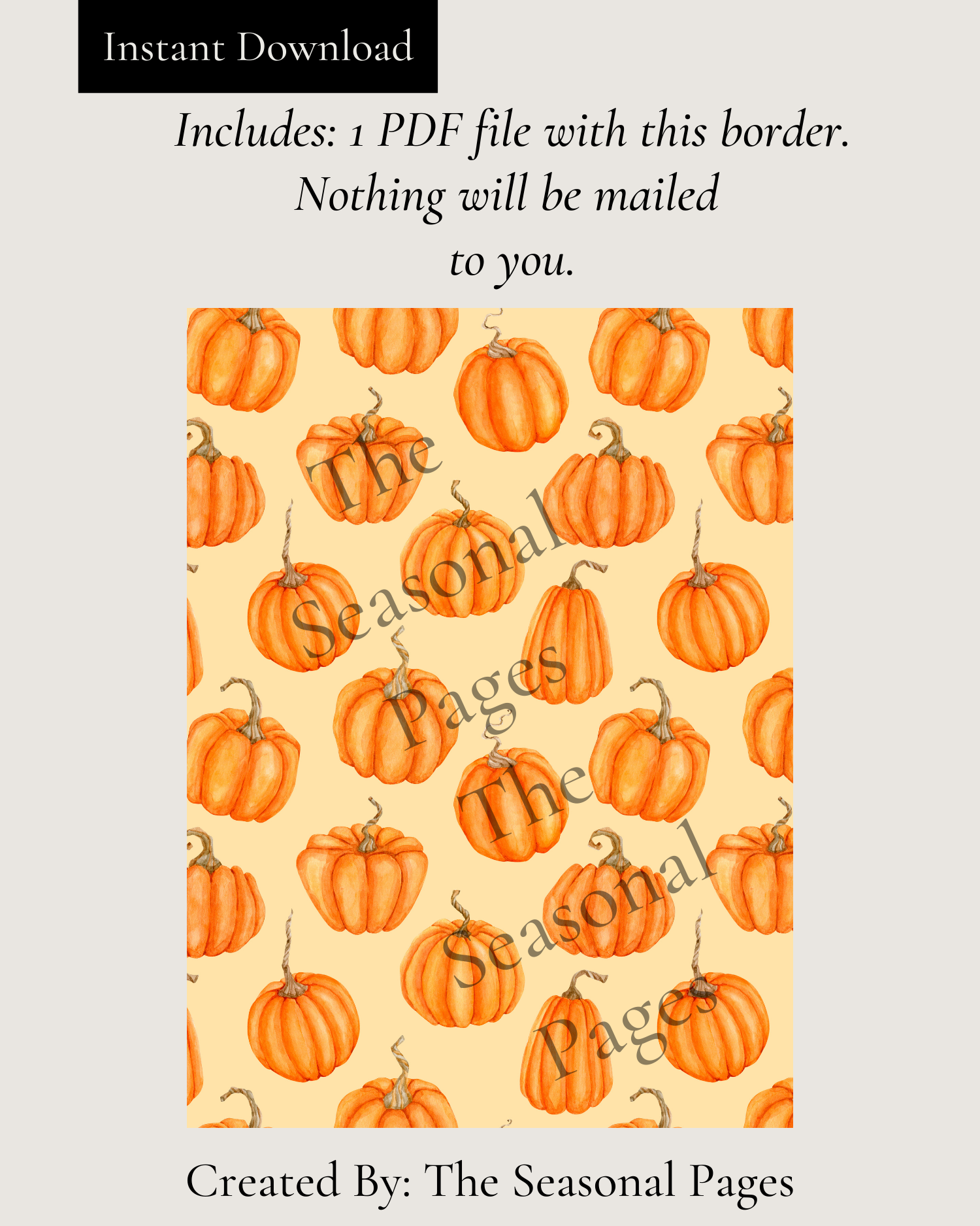 Pumpkin Patch Stationery Printable