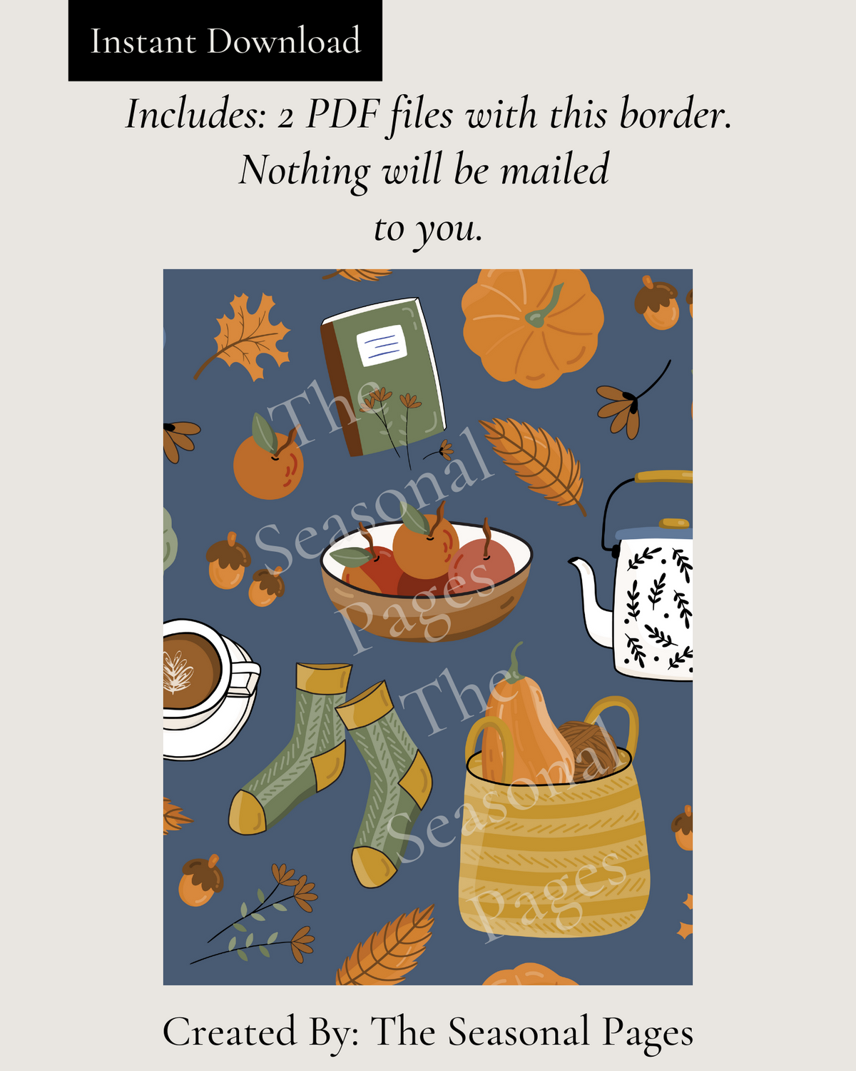Printable Fall 108 Stationery