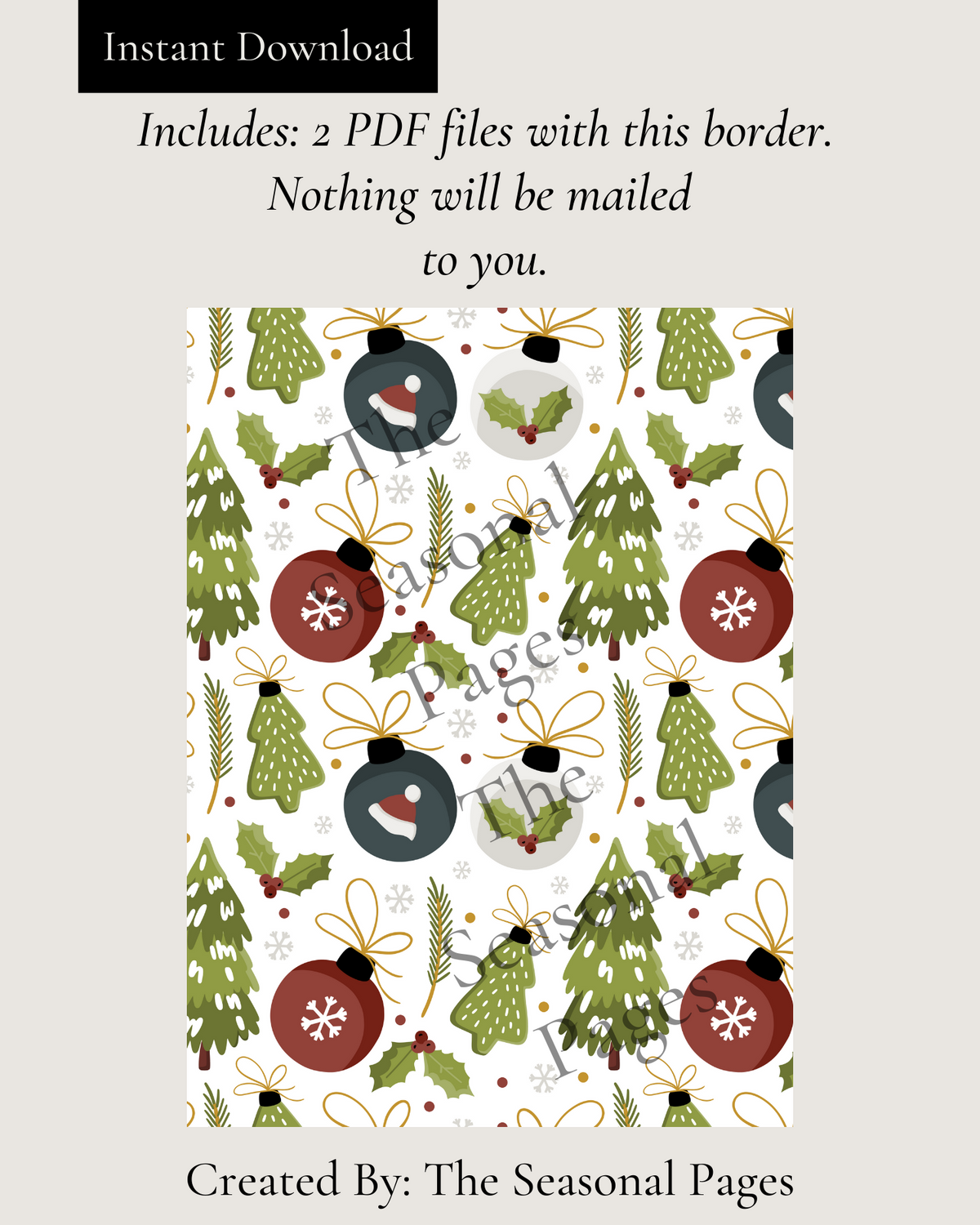 Printable Winter 103 Stationery
