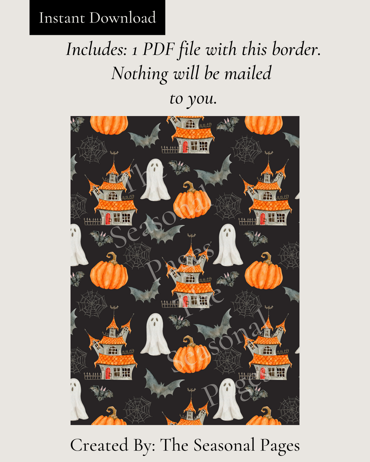 Haunted Halloween Stationery Printable