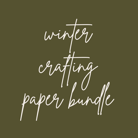 The Winter Crafting Paper Bundle