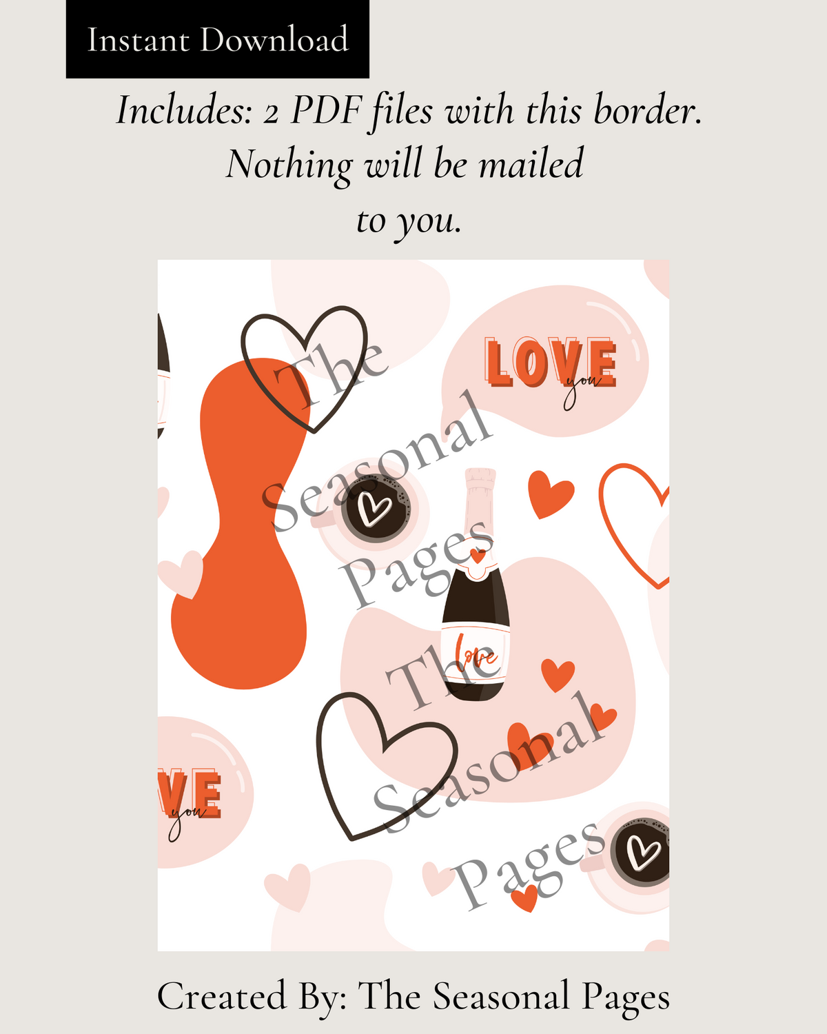 Valentine's Day Stationery Printable