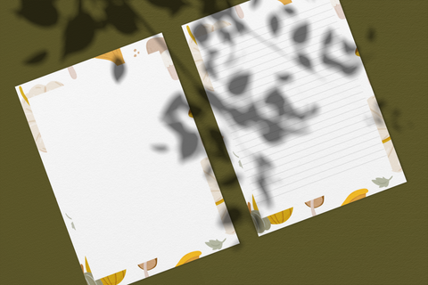 Printable Fall 102 Stationery