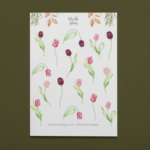 Printable Tulip Life Sticker Set