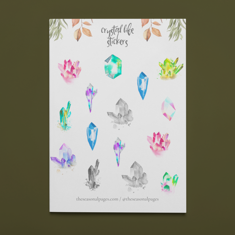 Printable Crystal Life Sticker Set