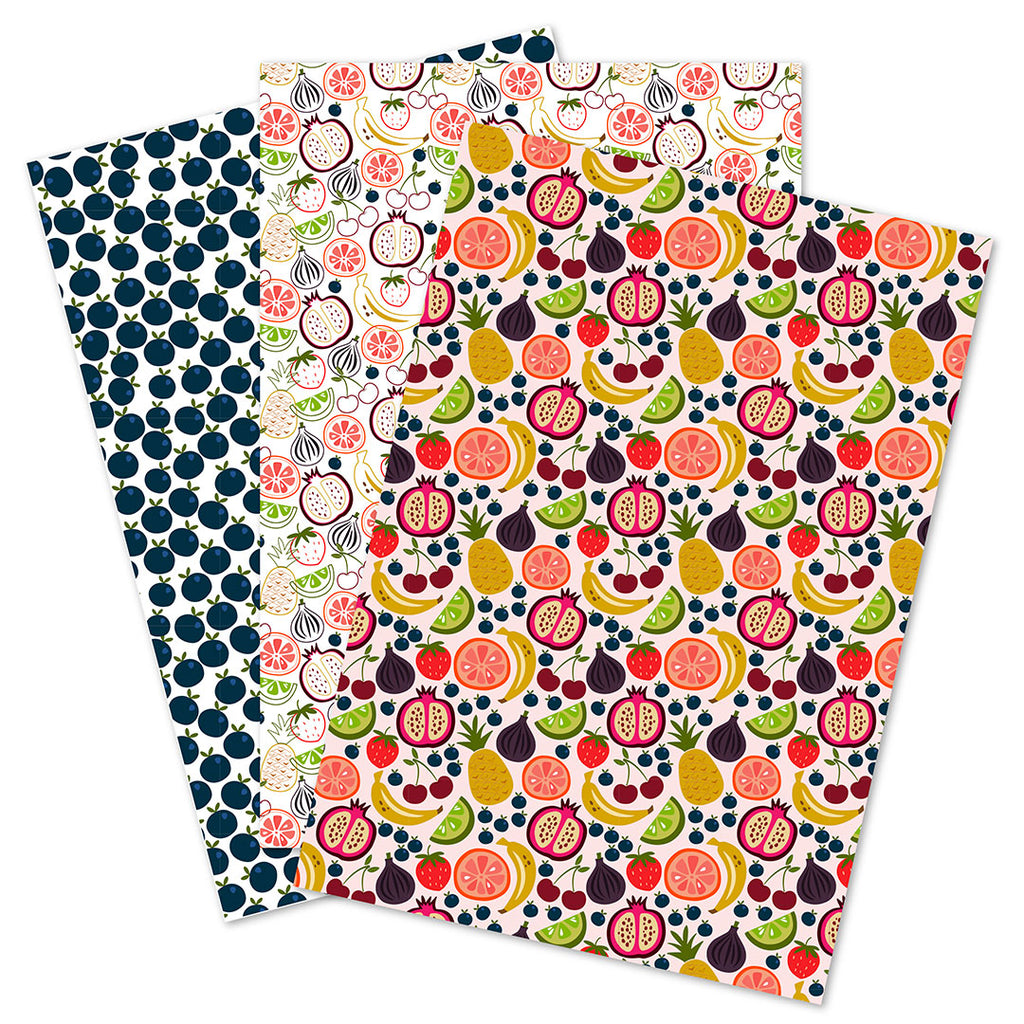 WhimWham,LLC Fruit Frenzy Coordinated gift Wrap Set