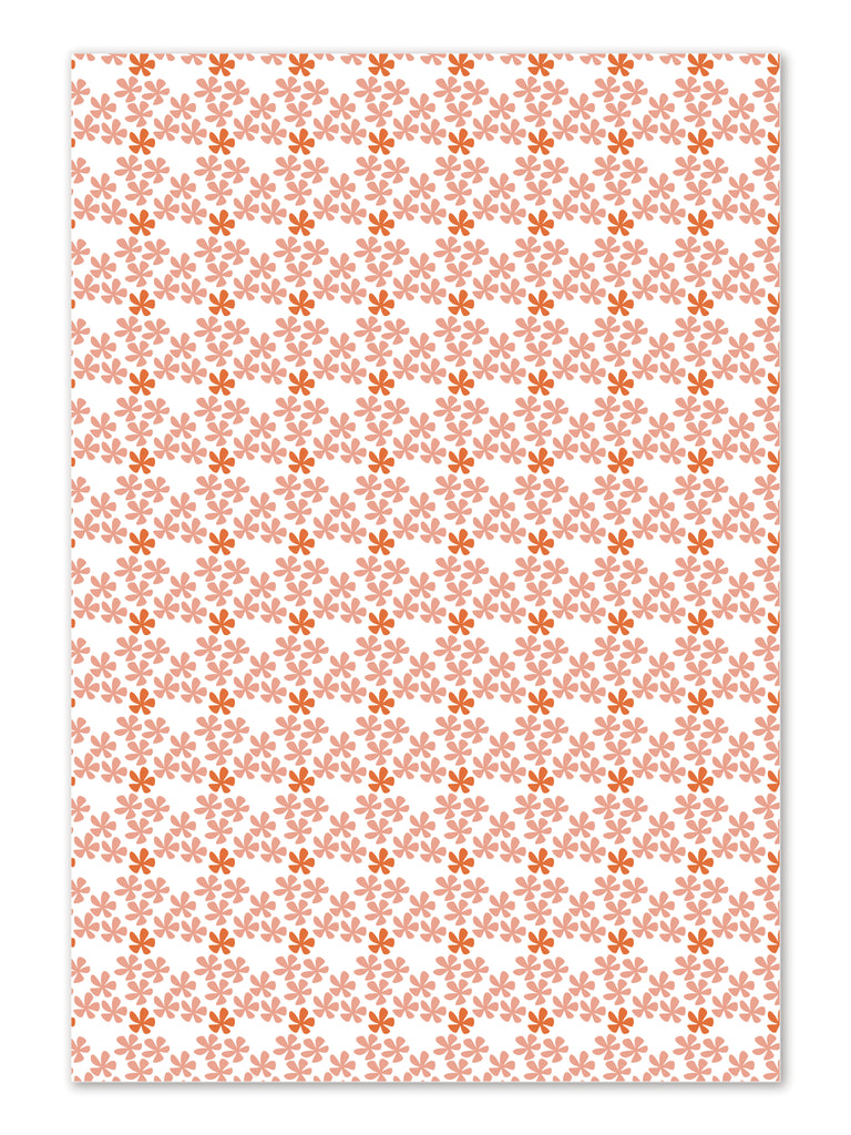 Hibiscus Mini Gift Wrap sheets by whimwham-studio.com