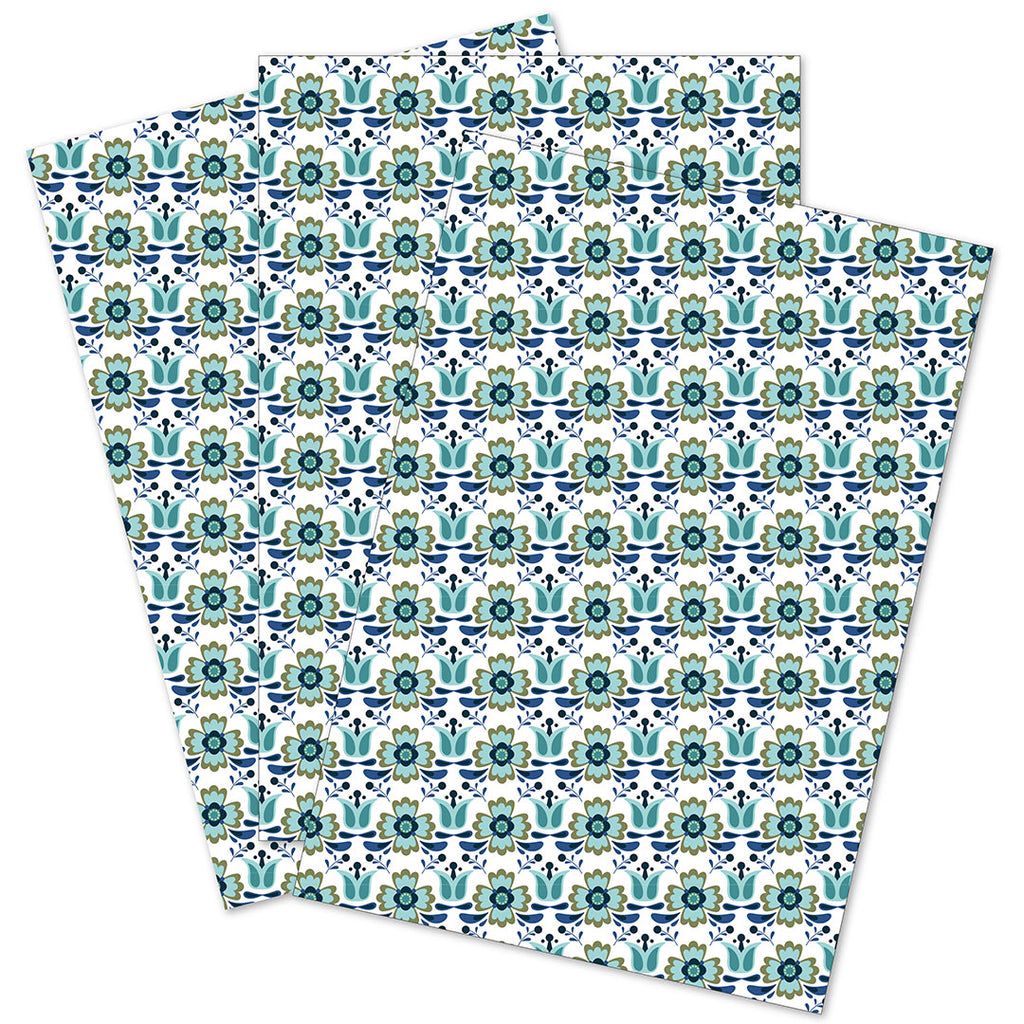 WhimWham,LLC Scandi Floral Daisy Gift Wrap Set