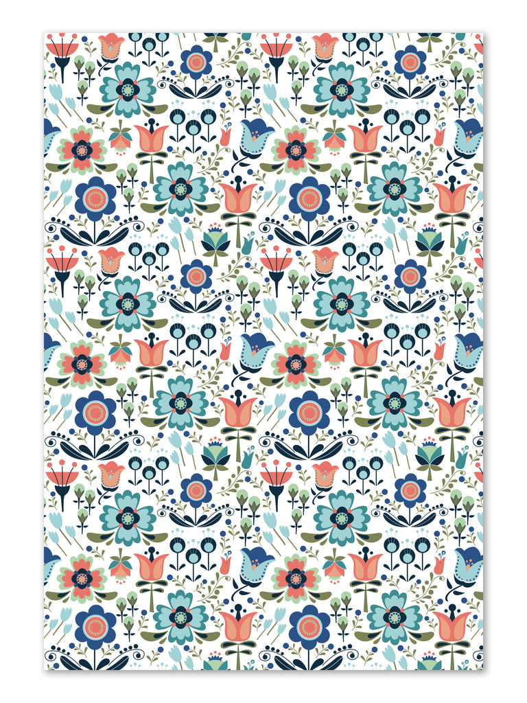 Scandi Floral Gift Wrap sheets by whimwham-studio.com