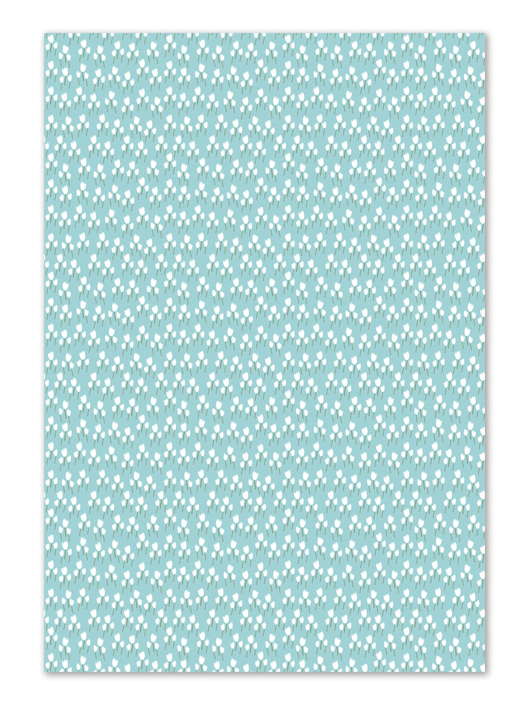 Tulips Gift Wrap sheets by whimwham-studio.com