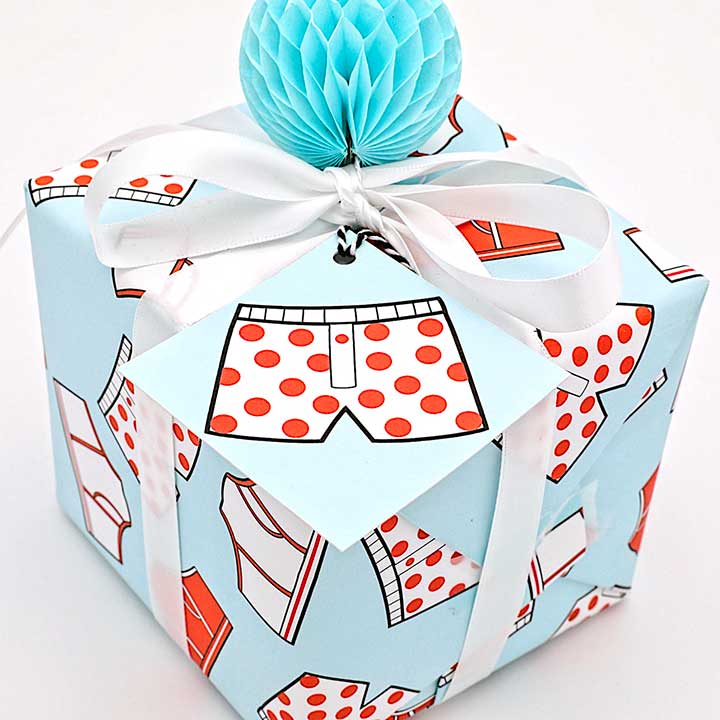 WhimWham,LLC Boxers or Briefs Gift Wrap and Tags