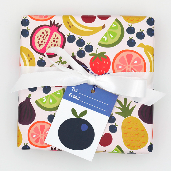 WhimWham,LLC Fruit Frenzy Wrap with Blueberry Tag