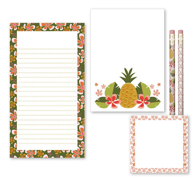 WhimWham,LLC Pineapple Party Desk Set