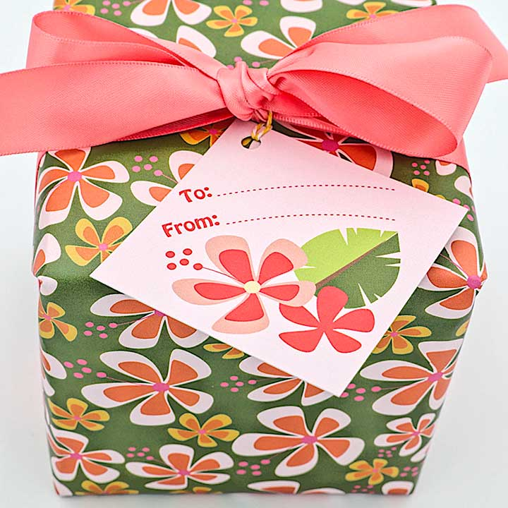 WhimWham,LLC Pineapple Party Hibiscus Wrap and Tags