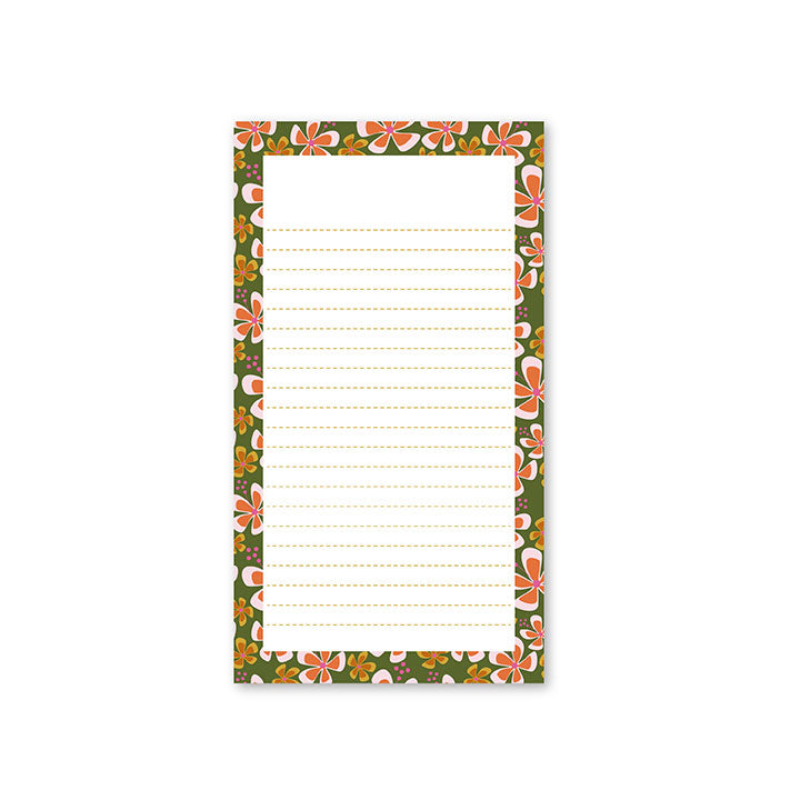 Hibiscus Lined Notepad by whimwham-studio.com