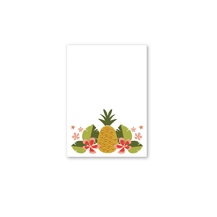 Pineapple Party Mini Notepad by whimwham-studio.com