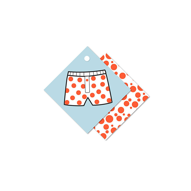 WhimWham,LLC Boxers or Briefs Gift Tags