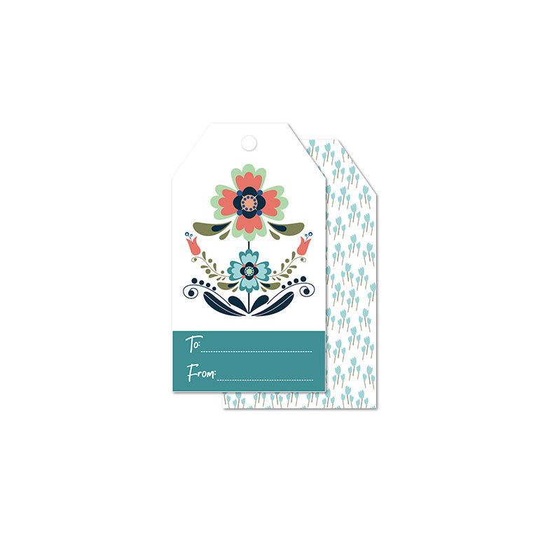 WhimWham,LLC Scandi Floral Daisy Gift Tags