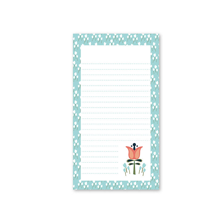 WhimWham,LLC Scandi Floral Lined Notepad