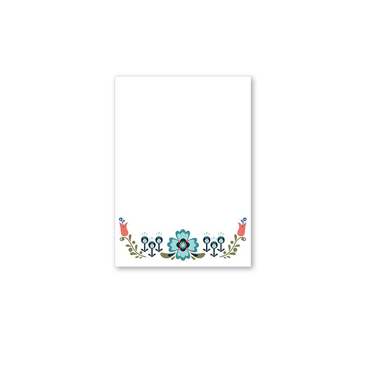 WhimWham,LLC Scandi Floral Notepad