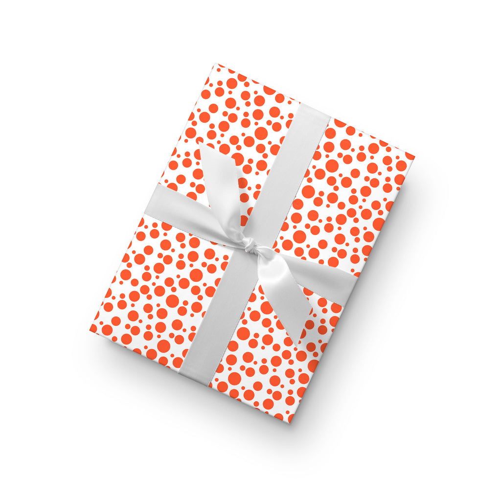 Dot Gift Wrap by whimwham-studio.com