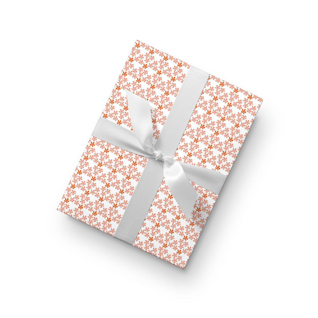 Hibiscus Mini Gift Wrap by whimwham-studio.com