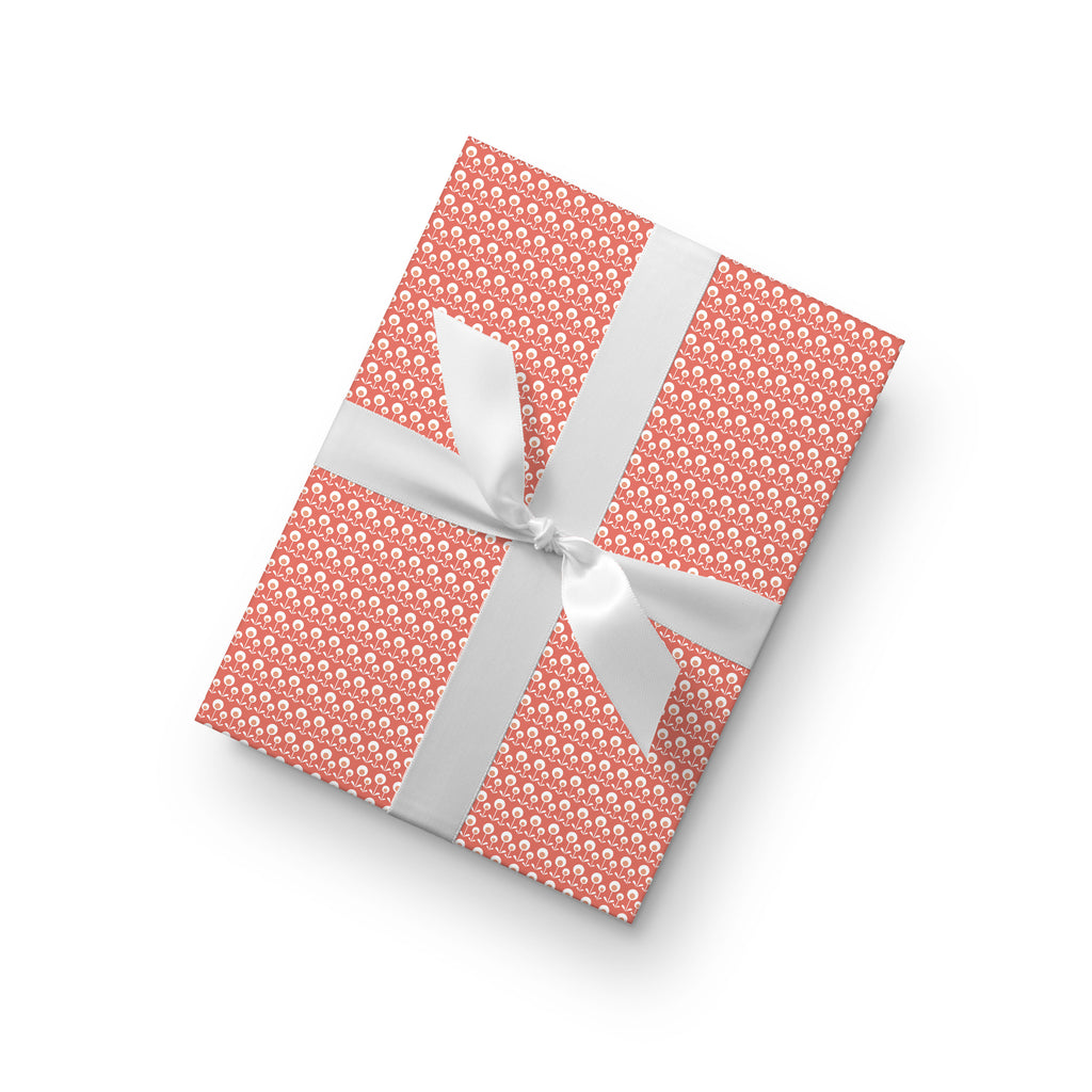Dotty Flower Gift Wrap by whimwham-studio.com
