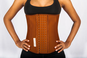 Classic Waist Trainer Deep Brown - NUDE SHAPE Waist Trainers