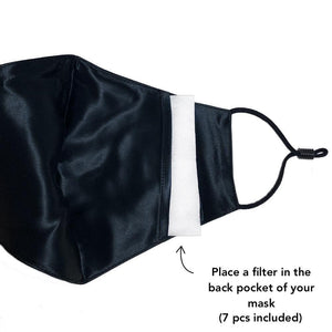 Pure Silk Face Mask - Black - COMING SOON - NUDE SHAPE Waist Trainers