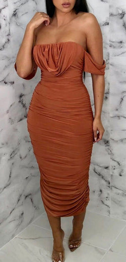 Rust 'Obsessed Much' Dress - Lu'Ducci