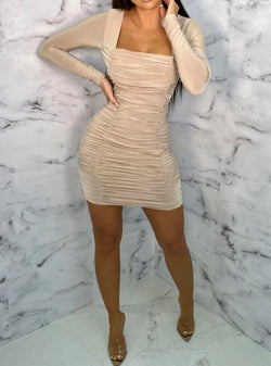 Nude 'BOD' Dress - Lu'Ducci