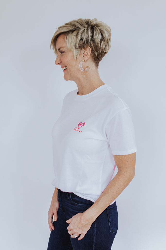 The Love Heart Tee - White