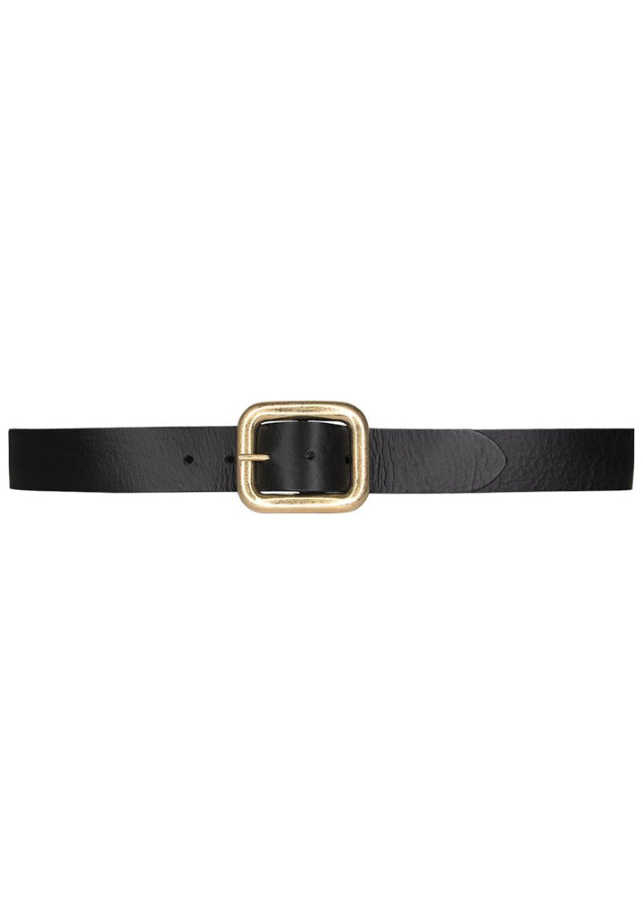 Natalia Big Leather Belt - Black