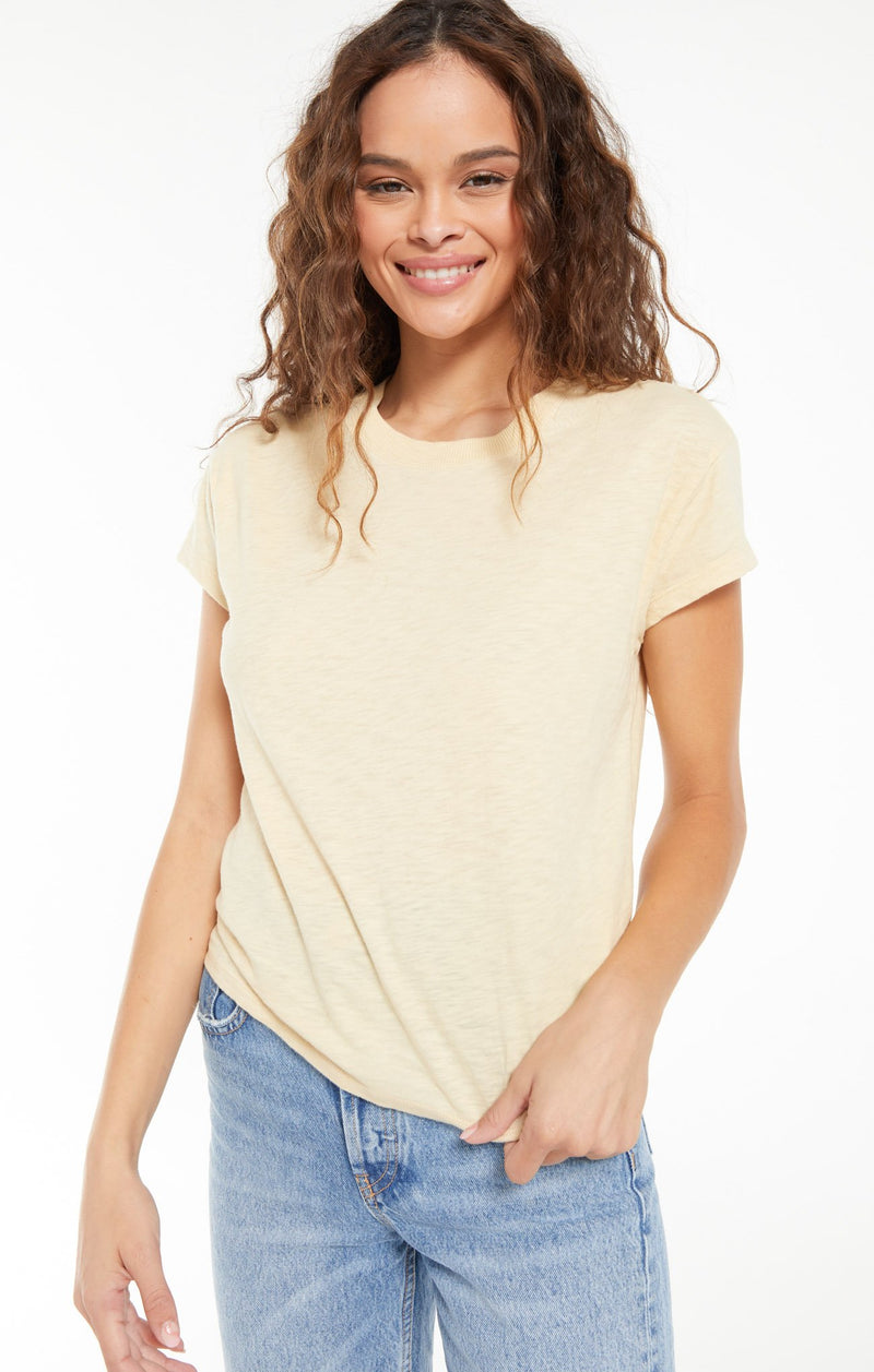 Modern Slub Tee - Washed Yellow