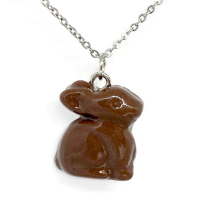 Chocolate Bunny Necklace