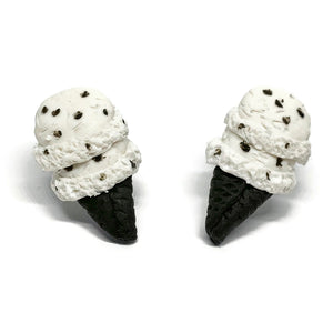 Cookies 'N Cream Ice Cream Cone Stud Earrings